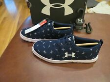 NWT Girls Blue & White Under Armour Critter Encounter Tennis Shoes, 3
