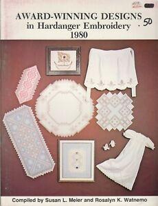 Award-Winning Designs in Hardanger Embroidery pattern book - 1980
