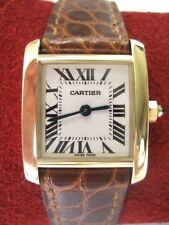 Women's solid 18k gold Cartier Tank Francaise watch, 2385, mint, gorgeous