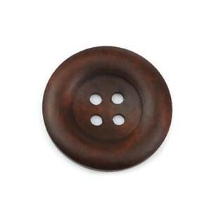 Dark Brown Coffee Wooden Button