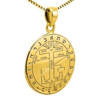 Pendant Seal The Great Key of Solomon Amulet Kabbalah Gilding Silver 925