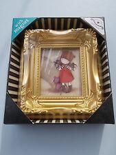 SANTORO GORJUSS GOLD FRAMED ART PICTURE HANGING HOOK & MAGNET BIRTHDAY GIFT CAT