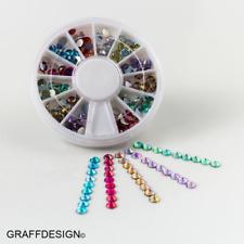 Nailart-Rondell-Strass-Mix - 6-8 irisierende Farben-4 mm Durchmesser-1702-032