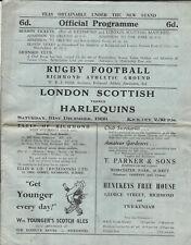 More details for london scottish v harlequins 31 dec 1960 rugby programme