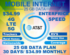 Enterprise Plan+ At&T 4G 5G Lte At&T 25 Gb with Free Sim & Shipping