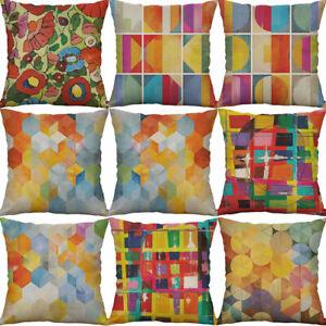 "18"" Abstract pigment Cotton Linen Home Decor pillow case Cushion Cover"