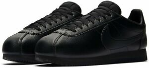 Mens Nike Classic Cortez Leather Triple Black Trainers Shoes UK 14 US 15 EU 49.5