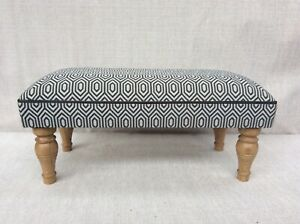 Footstool upholstered in a top quality designer fabric