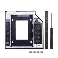 Universal 9.5mm Caddy SATA 2nd HDD SSD Hard Drive CD/DVD-ROM Adapter Tray