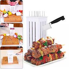BBQ Grill 16 Holes Skewers Food Slicer Brochette Grill Kebab Maker Box Kit Tool