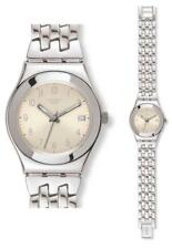 SWATCH IRONY Medio Follow Ways Crema yls441g Análogo Acero Inoxidable Plata