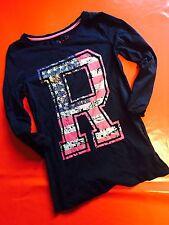 T Shirt Maillot Femme Fille Manche Longue Amérique