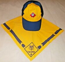 Bsa Boy Scouts Wolf Cap Hat Size M/L + Scarf