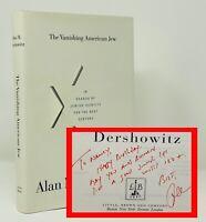 Alan M Dershowitz - Vanishing American Jew - SIGNED 1st 1st - Lawyer OJ Simpson