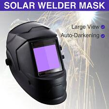 Super Large View True Color Solar Auto darkening ARC TIG MIG Welding Helmet Mask