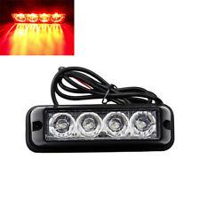 4 LED Car Truck Emergency Side Marker Light Bar Strobe Flash Warning 12V 24V