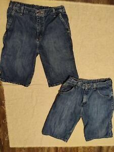 Wrangler Carpenter Jean shorts ADJ Waist NWT 5-18 R Dark Blue