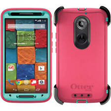 Genuine OtterBox Motorola Moto X 2nd Gen Defender Case Cover & Belt Clip Pink