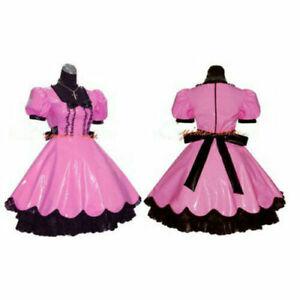 Sissy maid pvc dress lockable Uniform cosplay costume Tailor-made