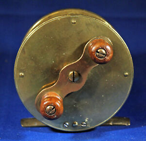 ANTIQUE 3 - 1/4 INCH BRASS FLY FISHING REEL