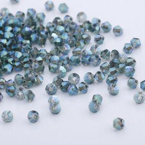200pcs Austria Crystal 4mm Bicone Beads #5301 DIY Fashion Jewelry U pick colors