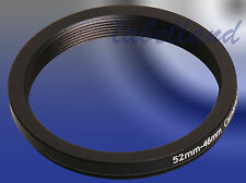 52mm-46mm Filter Adapter Ring wandelt 52mm Objektiv Gewinde zu 46mm Step-Down