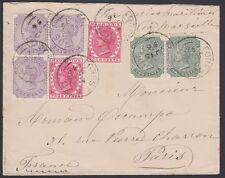 MAURITIUS,1893. Cover SG 101,102,105, Paris