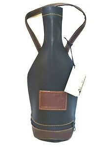 Wine Carrier Louis Dionne 750 ml Bottle Soft Faux Leather Black Zipper Bottom