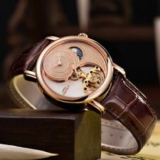 Tourbillon Luxury Automatic Mechanical Men's Watch Business Sport Crystal Glass