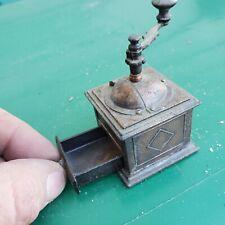 Vintage Antique Finished Die Cast Miniature Coffee Grinder Pencil Sharpener