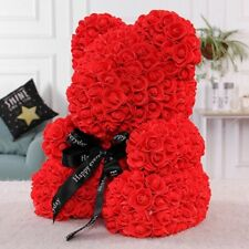 2019 Valentine Teddy Bear Foam Red Rose Flower Bear Toys Gifts 25cm