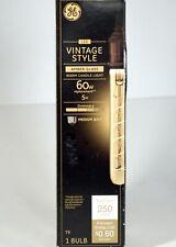 GE LED Vintage Style Amber Glass 5w Warm Candle Light 250 LM Dim Med Base Bulb