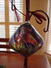 GORGEOUS Large Hand Blown Glass Ornament! Beautiful Design!