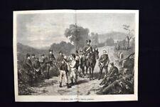 Guerra del 1870 - Ascolta prussiana Incisione del 1870