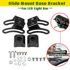 2Pcs Roof Top Car LED Work Fog Light Lamp Bar Slide Mount Bracket Clamp Holder