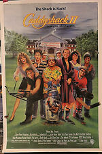 CADDYSHACK 2 1sh 1988 art of golfers Robert Stack, Chevy Chase & Dan Aykroyd