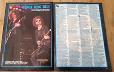 BLUE OYSTER CULT 'songs sung blue' ARTICLE / clipping