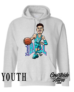 Kids Lamelo Ball Buzz City Hornet Charlotte Hoodie Sweatshirt Youth