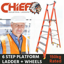 CHIEF 6 Step Fibreglass Platform Ladder