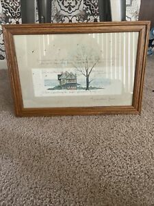 """1989 D. Morgan """"Grandmother's House"""" Framed Matted Signed Print"""