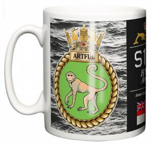 Royal Navy HMS Artful Ceramic Mug, Astute Class Attack Submarine Pennant S121