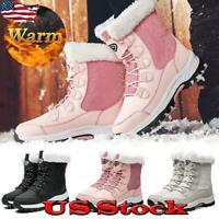 Women Winter Snow Boots Fur Lined Anti Slip Ladies Outdoor Booties Shoes Warm US