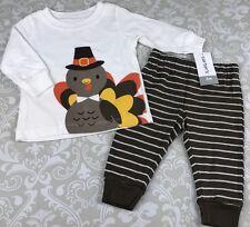 NWT Baby Boy 3 Mo Turkey Fall Outfit Set Carters Pilgrim Thanksgiving