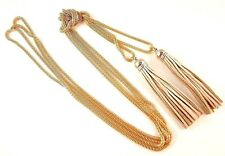 1 Gold Colour Long Bohemian Double Layer Tassel Hollow Chain Necklace -#B328
