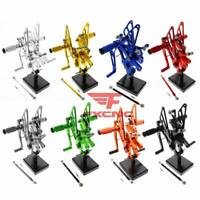 For Yamaha YZF R6 1999-2002 Adjustable Footpegs Rearset Footrest Rear Set Pedals