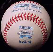 Cleveland Indians Inaugural Jacobs Field Baseball American League AL Rawlings