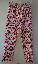 NIB Kelly's Kids Red/White Penelope Damask Triple Ruffle Legging Girl's Sz 5