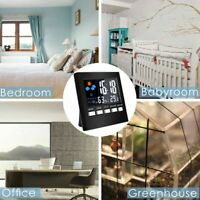 LCD Display Desk Led Digital Snooze Alarm Clock Calendar Weather Date Temp Time