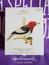 HALLMARK 2009 RED HEADED WOODPECKER BEAUTY OF BIRDS