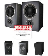 Mission LX-2 Bookshelf / Surround Speakers (PAIR) Black NEW!! - LX2BK